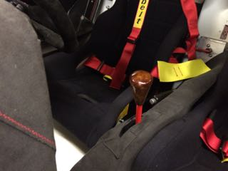 Newly varnished gear lever knob.jpg